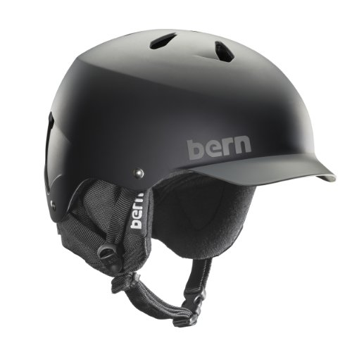 Herren Helm Bern Watts EPS w/ BK Liner Helmet grün Black/Grey Brim