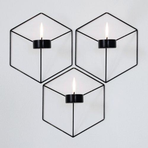 Menu 4766539 Wand-Kerzenhalter POV, 21 x 10,5 x 18,5 cm, schwarz - 2
