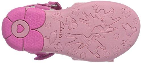Clarks Wiggletoes, Sandales fille Rose (Pink)