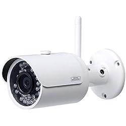 Burg-Wächter WLAN-Kamera mit Festobjektiv, Innen- und Außenbereich, Infrarot, 90 Grad Blickwinkel, 1 Stück, weiß, BURGcam BULLET 304