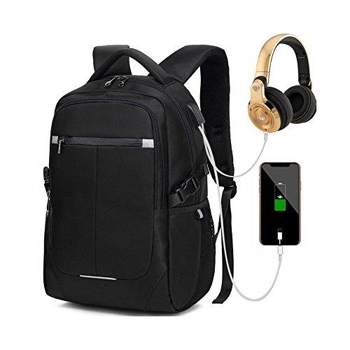 Tuch Gebunden Notebook (Unbekannt Laptop-Rucksack mit USB-Ladeanschluss und Diebstahlsicherung, 15,6-Zoll-Laptoptasche, Wasserdichter Schulrucksack, Neutraler Rucksack, Wasserdichter Rucksack)