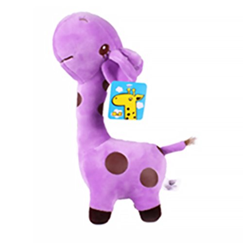 Sungpunet Plüsch Puppe Plüsch Tier Giraffe Spielzeug Plüsch Simulation Plüsch Giraffe Spielzeug Kind Kleinkind Baby Spielzeug - lila 1 Stück