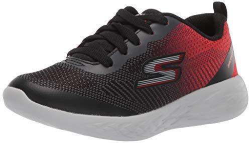 Skechers Go Run 600-Haddox, Sneaker Bambino, Nero (Black Red BKRD), 38 EU
