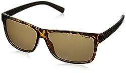 Polaroid Polarized Rectangular Mens Sunglasses - (PLD 2027/S M31 59IG|59|Brown Color)