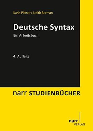 Deutsche Syntax. Ein Arbeitsbuch (Narr Studienbücher)