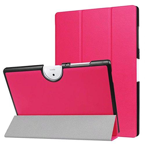 Xinda Acer Iconia One 10 (B3-A40) Hülle, Ultra Schlank Ständer Slim Leder zubehör Schutzhülle perfekt geeignet für Acer Iconia One 10 B3-A40 2017 Tablet PC,