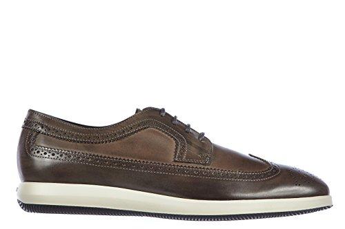Hogan scarpe stringate calssiche uomo in pelle nuove derby dress x grigio EU 45 HXM2090L0818A1B216