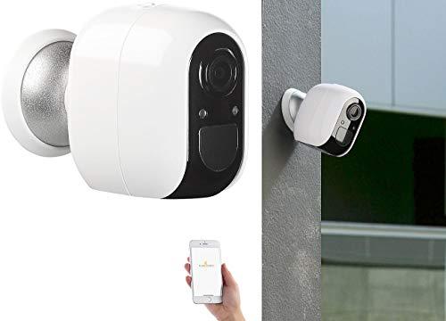 VisorTech Camera: IP-Überwachungskamera, Full HD, WLAN & App, Batterie-Betrieb, IP54 (Outdoor IP Überwachungskamera)
