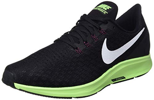 ad65866767993 Nike Air Zoom Pegasus 35, Chaussures de Running Homme, Multicolore  (Black/White/Burgundy Ash/Lime Blast 016), 42 EU