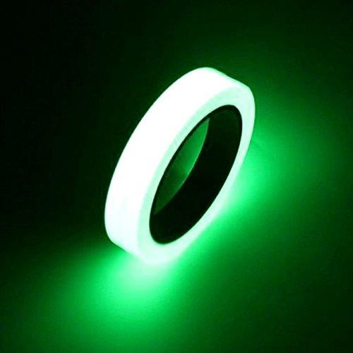 (UOOOM Leuchtendes Klebeband Selbstklebendem Band Glow in the Dark Fluoreszierende Wasserdicht Luminous Tape (25mm*10m))