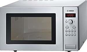 Bosch HMT84M451, Forno a microonde, 25L, 900 W, acciaio inossidabile, Argento [Importato da Germania]