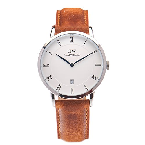 Daniel Wellington Men Analog Quartz Watch with Leather Strap DW00100116