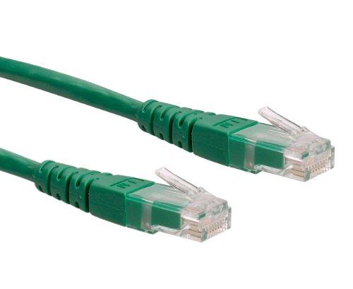 ROLINE UTP LAN Kabel Cat 6 , Ethernet Netzwerkkabel mit RJ45 Stecker , grün 10 m