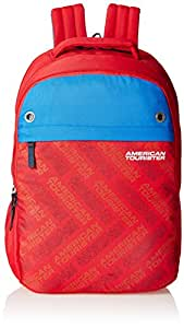American Tourister 25 Ltrs Red Casual Backpack (AMT ALLER2016 BACKPACK02)