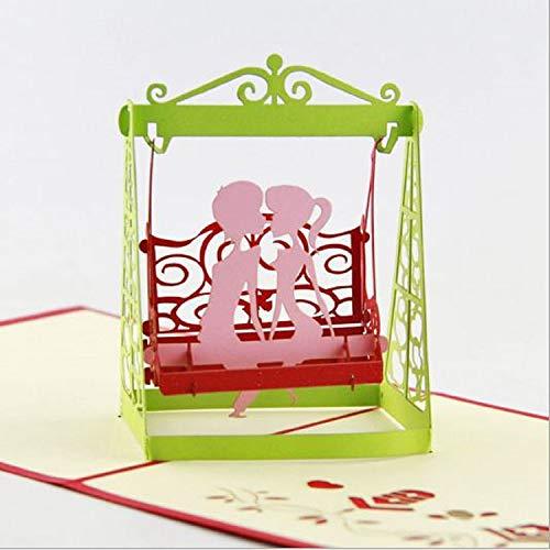 Anniversario Di Matrimonio In Francese.Bc Worldwide Ltd Fatto A Mano 3d Pop Up Carta Dolce Amore Coppia