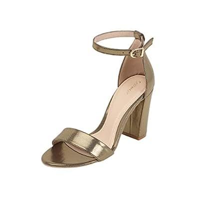 Catwalk Women's Gold Fashion Sandals-4 UK/India (36 EU) (3364BX)
