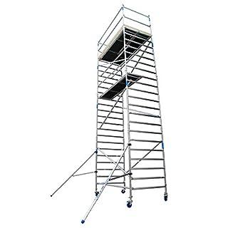 Gerüst arbeitsbühne Alu auf Rollen, Arbeitshöhe ist 8,3 M - Gerüst von Aluminium und fahrbar