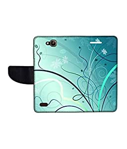 KolorEdge Printed Flip Cover For Huawei Honor Holly Multicolor - (50KeMLogo10110HonorHolly)