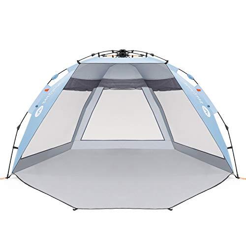 Easthills Outdoor Coastview Strandzelt mit LSF 50+, extra großer Sonnenschutz, mit Reißverschluss, Coastview Ultra Sky Blue