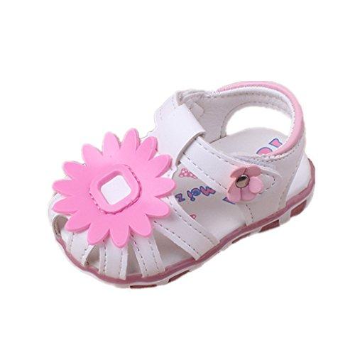 Baby Schuhe Auxma Baby Mädchen Sonnenblume Sandalen beleuchtete Soft-Soled Prinzessin Schuhe (3-6 M, UU) (Produkte Sonnenblume)