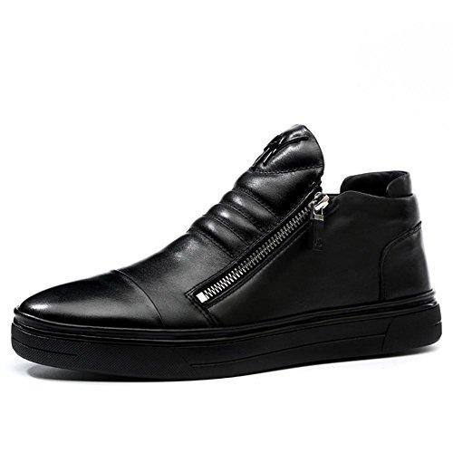 Automne hiver mode masculine garder chaud chaussures en cuir classique