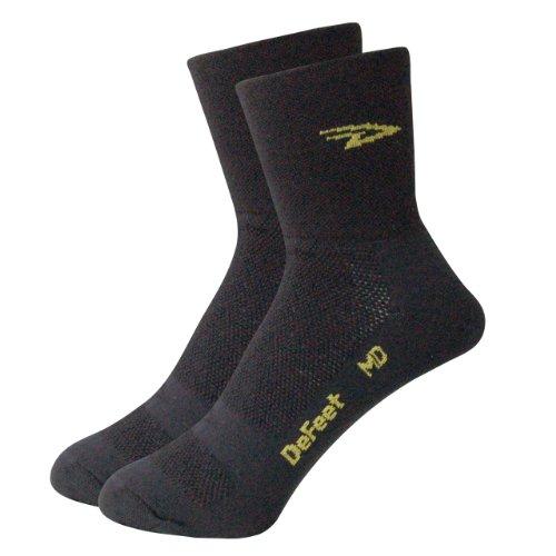 DeFeet Aireator hoch Sugarskull Socken Medium schwarz / weiß (Defeet Herren-socken)