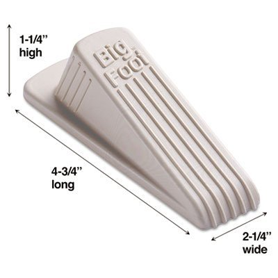 "Master Caster Company Products - No-Slip Doorstop, Rubber, 2-1/4""x4-3/4""x1-1/4"", Beige - Sold as 1 EA - Big Foot Doorstop features an extra-wide footprint to hold doors securely in any position. Doorstop will not collapse, slip or mark floor. Doorstop is made of 100 percent vulcanized rubber. by Master Caster"