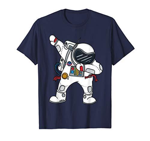 Weltraum Frauen Kostüm - Dabbing Astronaut T-Shirt Jungen Lustig Space Weltall Shirt