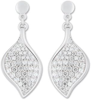 Bijoux pour tous - Pendientes de plata de ley