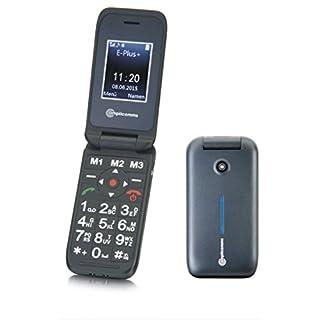 amplicomms PowerTel M6700, Großtasten-Klapphandy mit extra großen, beleuchteten Tasten und Freisprecheinrichtung, Bluetooth-Funktion, schwarz