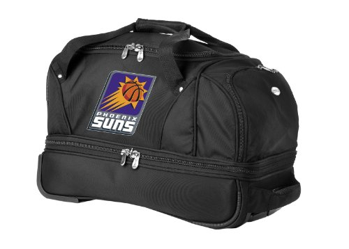 nba-phoenix-suns-denco-22-inch-drop-bottom-rolling-duffel-luggage-black
