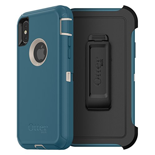 OtterBox Defender Serie Case & Holster für iPhone X (nur) (Zertifiziert aufgearbeitet), Big Sur (Pale Beige/Corsair) Defender Series-holster
