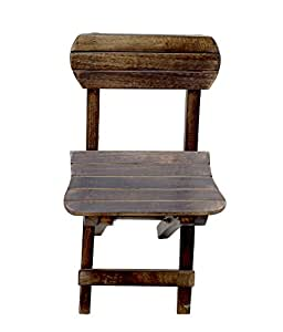 Desi Karigar Small Wooden Antique Chair for Kids