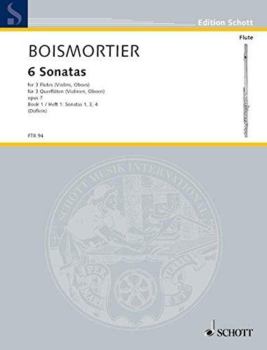 6 Sonatas: Sonaten 1, 3, 4. Heft 1. op. 7. 3 Flöten (Violinen, Oboen) oder gemischte Besetzung. Spielpartitur. (Edition Schott)