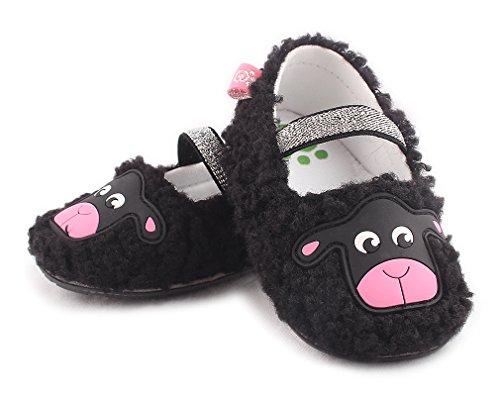 Cartoonimals Babyschuhe Mädchen Jungen Neugeborene Weiche Rutschsicheren Baby Kinder Schuhe Sheep Black