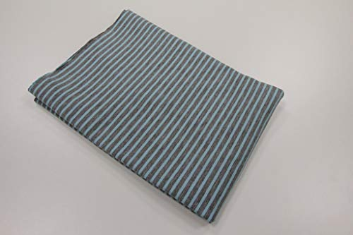 Pinidi Coupe en Tissu 50 cm x 140 cm Certifié Ökotex/Jersey Turquoise Clair chiné