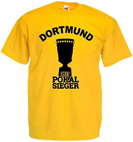 Dortmund Pokalsieger 2017 Berlin T-Shirt S-XXXL Gelb