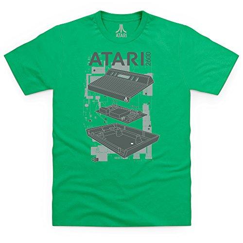 Official Atari 2600 T-Shirt, Herren Keltisch-Grn