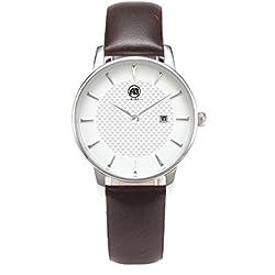 aibi Frauen Wasserdicht Ultradünne Schutzhülle Analog Quarz Armbanduhr mit Datum Funktion ab 52601-1