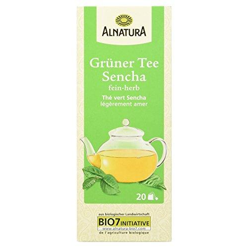 Alnatura Bio Grüner Tee Sencha, 20 Beutel, 30 g