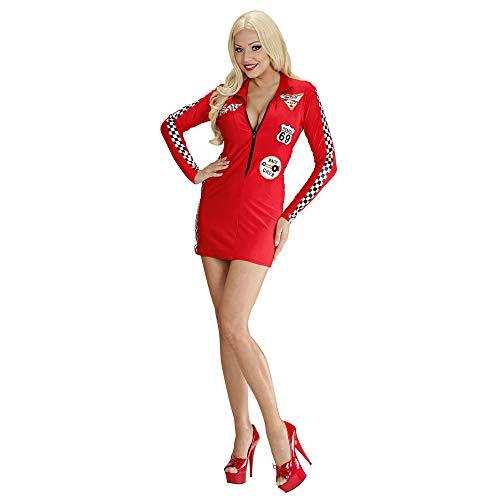 Kostüm Girl Grid - Kostüm Sexy Boxenluder, Größe M, Rot/Blau