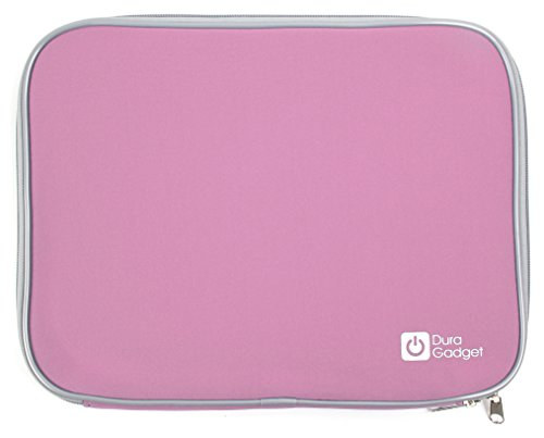 DURAGADGET Wasserabweisendes Schutz-Case Transporthülle Tasche Sleeve ROBUST in Rosa für den tragbaren Lenco DVP-1350 DVD-Player (Für Rosa Dvd Tragbare Auto Player)