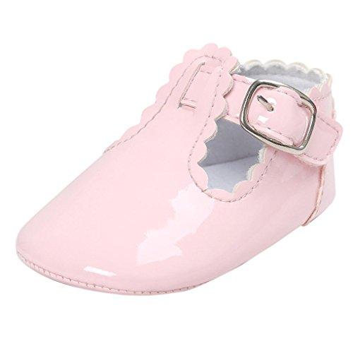 Kolylong Chaussures Bébé Lettre Princesse Dentelle Rose