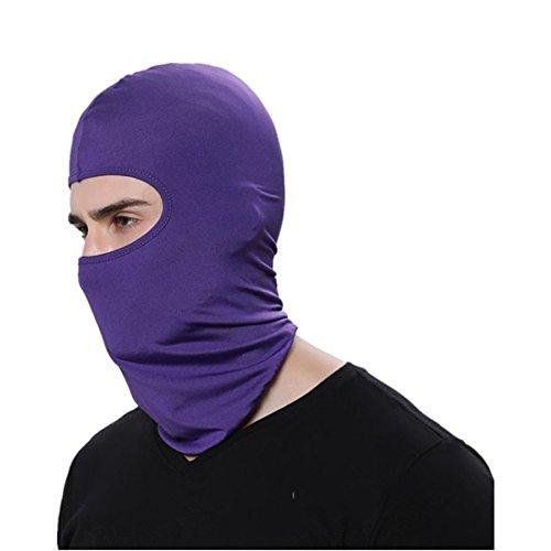 wenyujh Damen Herren Multifunktion Sturmhaube Gesichtsmaske Gesichtshaube Balaclava Skihaube Kopfbedeckung (Lila)
