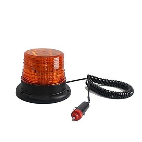 MStar voiture E3 - L 7,5 W LED COB Gyrophare DC12 V Lampe de signal d'avertissement LED 24 V 13 x 15 x 12 cm Éclairage de plaque minéralogique avec aimant super Pied Lampe flash en jaune