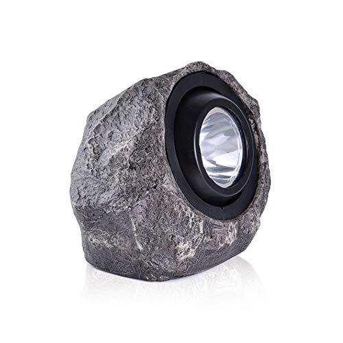 XCXDX Outdoor-Harz Simulation Stein Solarlicht, wasserdichte LED-Strahler, Verstellbarer Lampenkopf, 20 × 16cm 1pc -