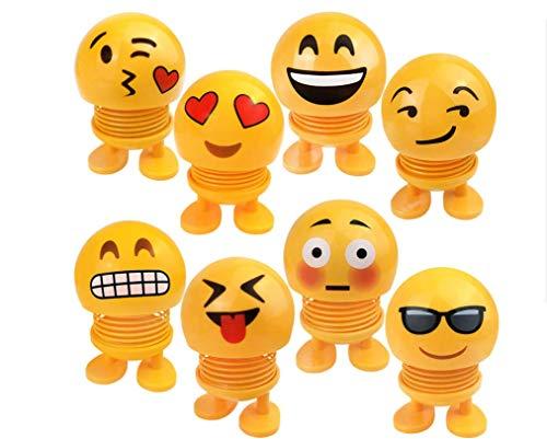 Guter-Handwerker Auto-Smiley-Puppe Kopfschüttelnde Frühlingspuppe als Autodekoration ,Tischdeko,Spielzeug bei Partyspielen,Das lustige Team leuchten Nicht nur Augen sondern auch Geist! (8 Pieces)