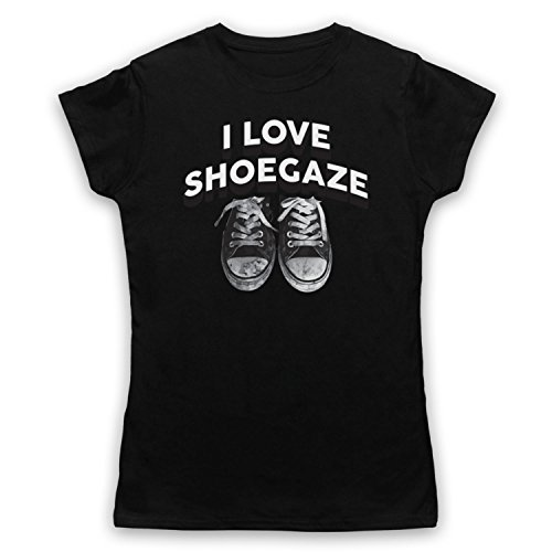 I Love Shoegaze Indie Alternative Rock Fan Damen T-Shirt Schwarz
