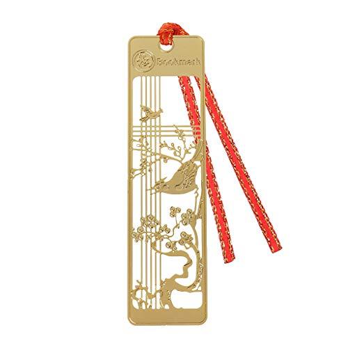 Kalttoy Beau Style Rétro Chinois Creux Métal Marque-Page Traditionnel Note Mémo Clip Papier Marqueur Étudiant École Papeterie (01)