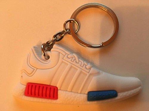 Preisvergleich Produktbild Adidas NMD Schlüsselanhänger Weiß Blau Sneaker Keychain